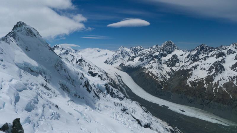 Mt Haidinger and upper Tasman valley