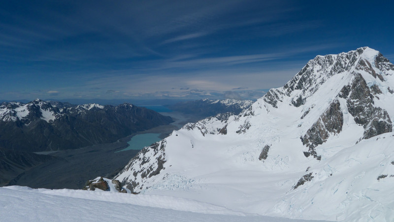 Aoraki Mt Cook and the view to the south