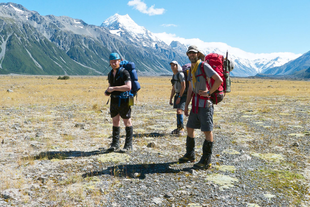 11am on the 11th of January 2012: 700m above sea level, 3000m below summit of Mt Cook.