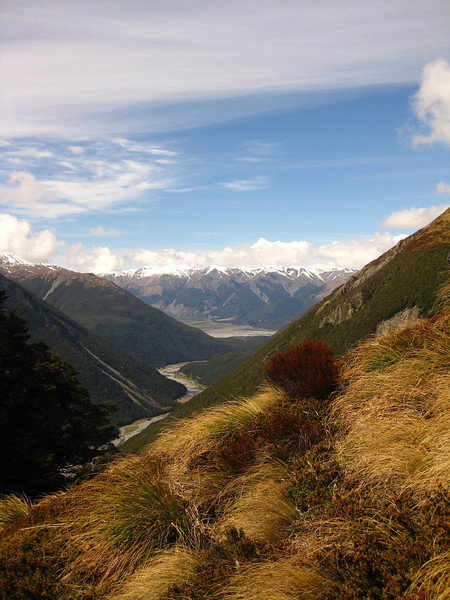 Saturday - a quick warm-up climb out of Arthurs Pass to  Avalanche Peak (1833m).