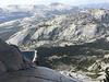 Tricia partway up Tenaya