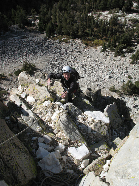 Saturday, September 22.<br /> We flew to LA the day before and drove to Bishop. Our first route is Crystal Crag, above Mammoth Lakes.