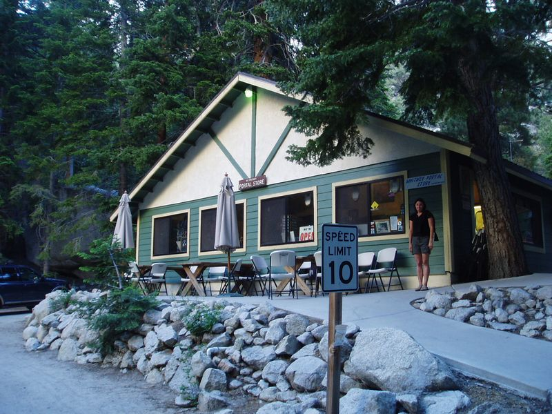 The Whitney Portal Store.  At the end of the road.  Where it becomes necesssary  to exit your vehicle and start walking.  Uphill.