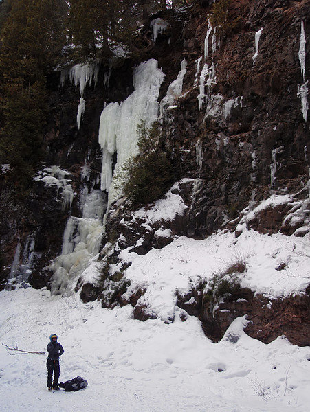 North Shore, MN<br /> Manitou River<br /> Second icefall, late season