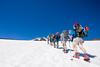 We hit snow around 8,000 feet.