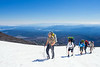 Ben and Team on the final stretch to camp.  Mt Hood can be seen in the distance.