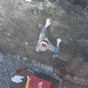 Marc on a gully highball at Godrevy