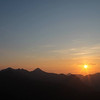 Sunrise, with Sgurr nan Gillean and the Basteir tooth left of centre