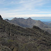 The far end of the ridge, Sgurr nan Gillean, right of centre with Sgurr Dubh Mor in the foreground