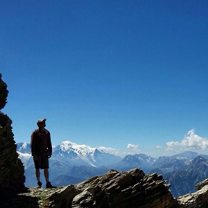 On the way up to Dent de Morcles with awesome views