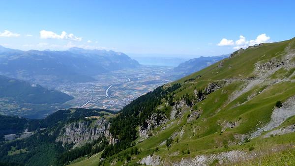 U-shaped Rhone Valley and Lac Léman