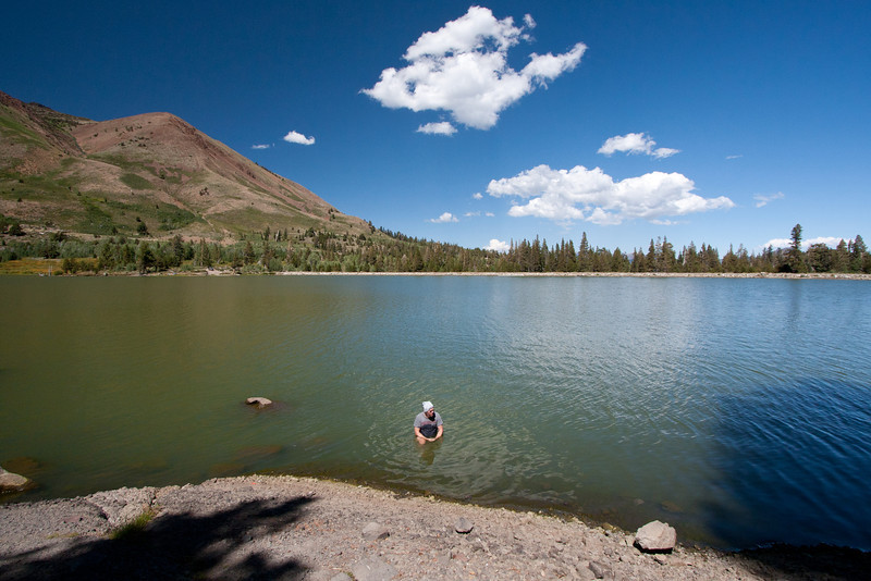 the next day we spent relaxing at Red Lake.