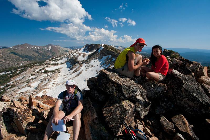 on the Summit of Red Peak.