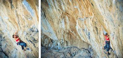 Marci Marc 7c+ (5.13a) @ Odyssey, Kalymnos Climber: Rachel Melville