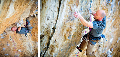 Dani Boy, 8a (5.13b), Spartacus in Kalymnos Climber: Peter Lothigius