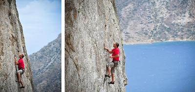 6b, le 13e Travail d'Hercule @ Spartacus, Kalymnos Climber: unknown