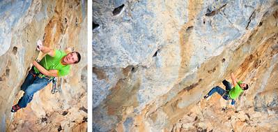 Mira 7b (5.12b) @ Eros in Telendos Climber: Simon Montmory