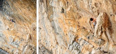 Meyleen 7a+ (5.12a) @ Glaros, Telendos Climber: Chloe Minoret
