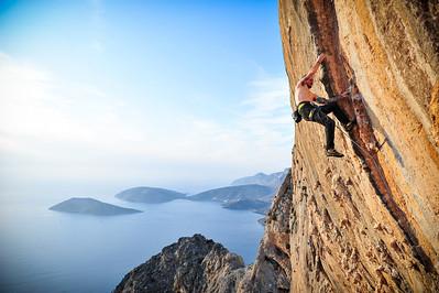 Gegoune 7c (5.12d) @ Galatiani (Calcite Cave), Kalymnos Climber: Jean-philippe Brisson