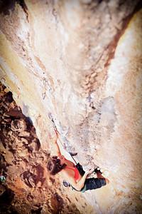 Calcite Star 7b (5.12b) @ Galatani (Calcite Cave), Kalymnos Climber: MF Hamel