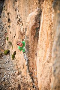 Gegoune 7c (5.12d) @ Galatiani (Calcite Cave), Kalymnos Climber Sean Stewart
