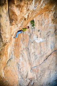 The Craic, 7b+ (5.12c) @ Ivory Tower, Kalymnos Climber: Audrey Chaspoul