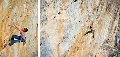 Eros 7a+ (5.12a) @ Eros, Telendos Climber: Chloe Minoret