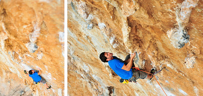Elia 7b (5.12b) @ Ghost Kitchen, Kalymnos Climber: Paul Hayes