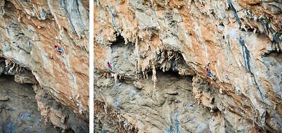 Little Bulbos 7c+ (5.13a) @ Sikati Cave, Kalymnos Climber: Rachel Melville