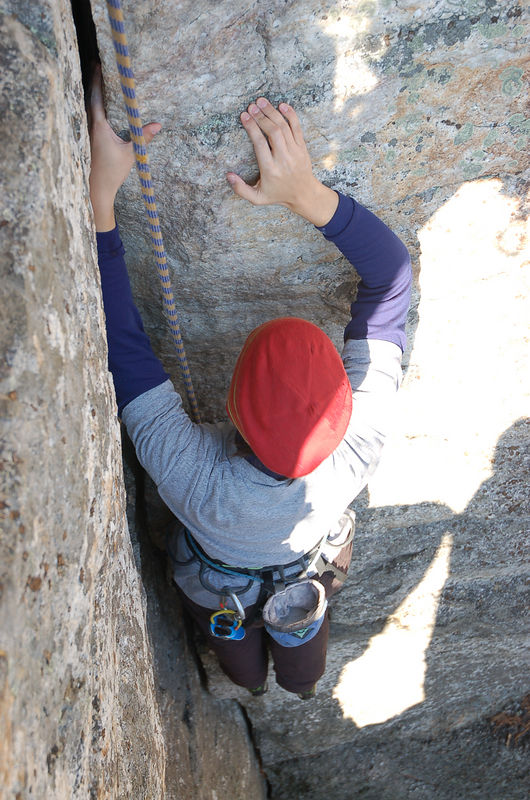 It was Tricia's first outdoor route too a few years ago.  Today Tricial led it.  And the Cycle of the Stone continues...