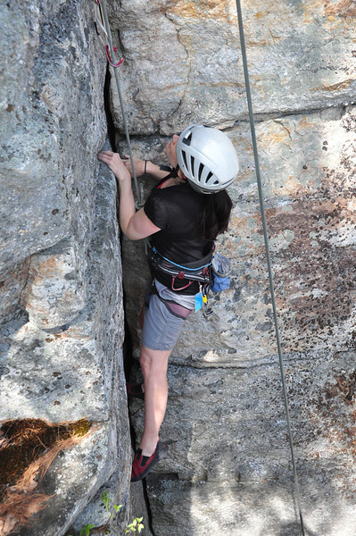 Heidi on her first route.