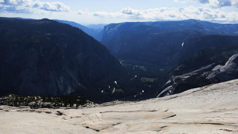 Yosemite Valley - Yosemite Falls and El Capitan in view.