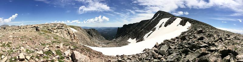 Flattop Mountain, Tyndall Glacier, Hallett Peak cirque
