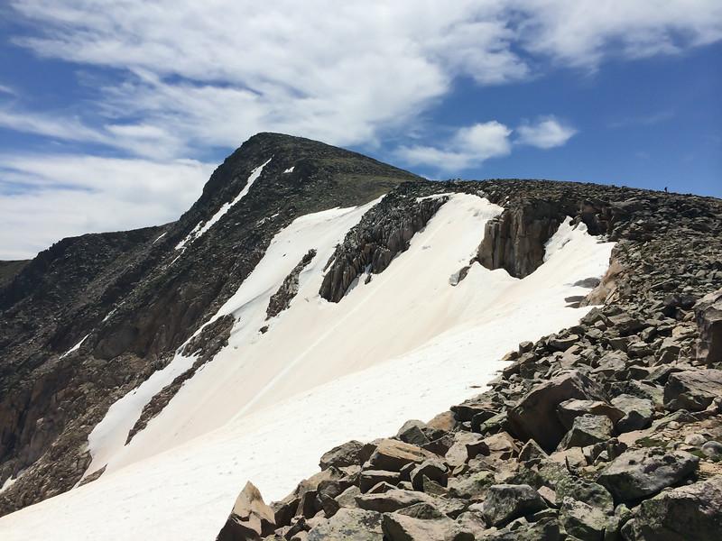 Hallett Peak and the Tyndall Glacier.