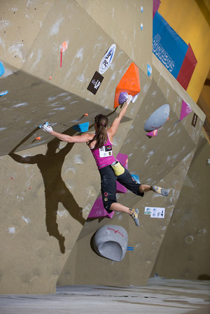 Climber: Anna Stöhr Problem: Qualifiers, #3Location: Toronto Wold Cup 2013