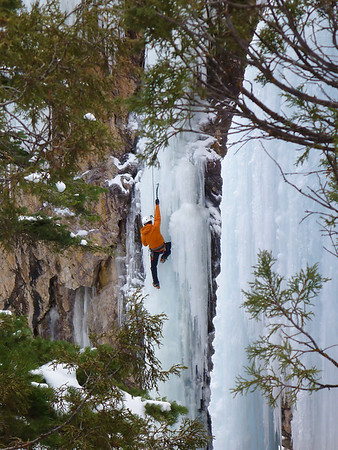 Andrew Hudacek on La Vantena, Ouray Ice Park