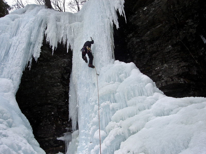 Right (middle) column. Last pitch of Buttermilk.Photo by Mike McGrath.