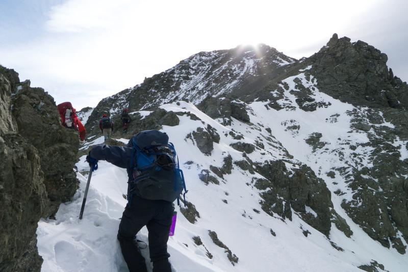 Moving along the ridge towards Te Ao Whekere summit
