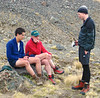 Daniel, Nank and Sean Buchanan contemplating the climb.