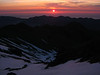 Day two: After an hour and a half of climbing up the eastern snow slopes, the sun comes up.