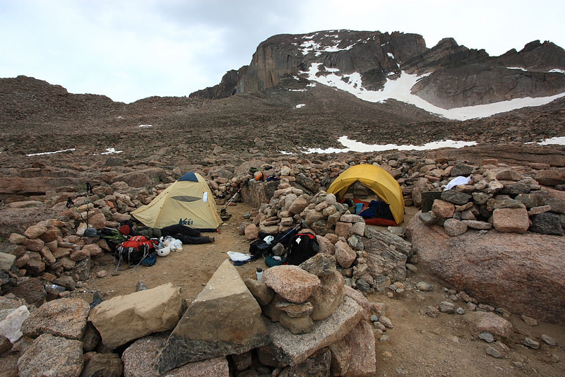 finally to the campsite in the boulderfield at approximately 12,740ft elevation (I think)