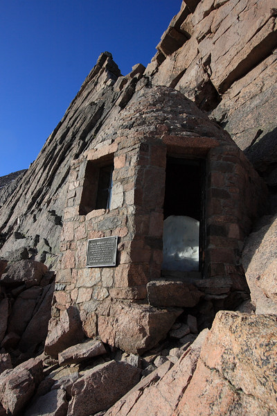This shelter is a memorial to someone to who died on the mountain as far as I know.