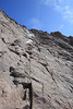 The last section before summit was the Homestretch, a Class 3-4 climb up a slabby rock face.