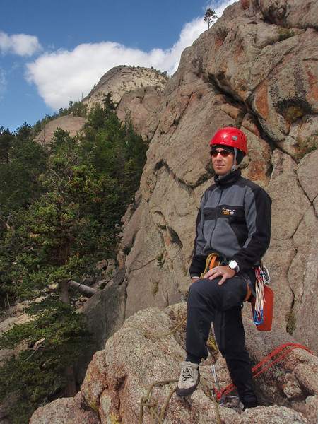 Lumpy Ridge, Estes Park, CO<br /> Batman & Robin<br /> Orhun on top