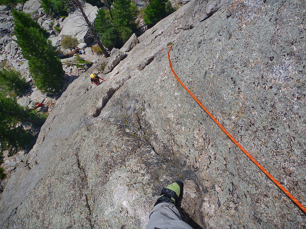 Lumpy Ridge, Estes Park, CO Batman & Robin Kejal following first pitch