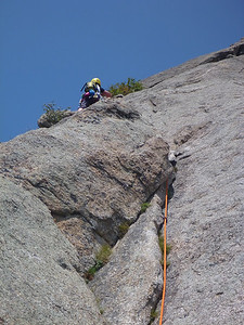 Lumpy Ridge, Estes Park, CO Batman & Robin Kejal on second pitch
