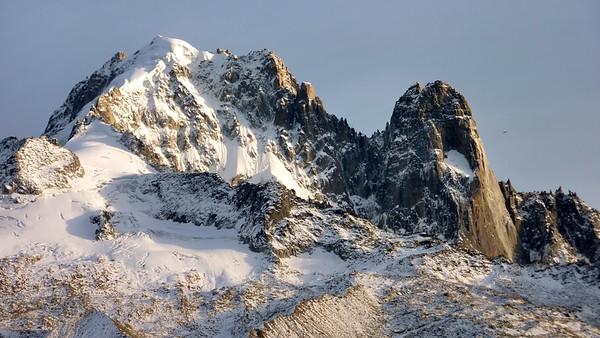 The immense Aiguille Verte and les Drus