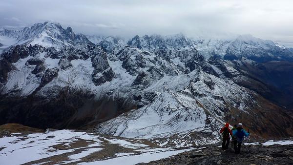 Descending Mont Buet 3096m