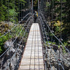 Suspension bridge over Tahoma Creek
