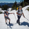 John and Steve on the HOT slog to camp 1